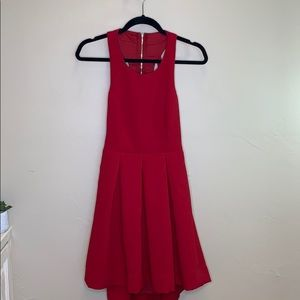 Lulu's Just Us red mini skater dress SZ M